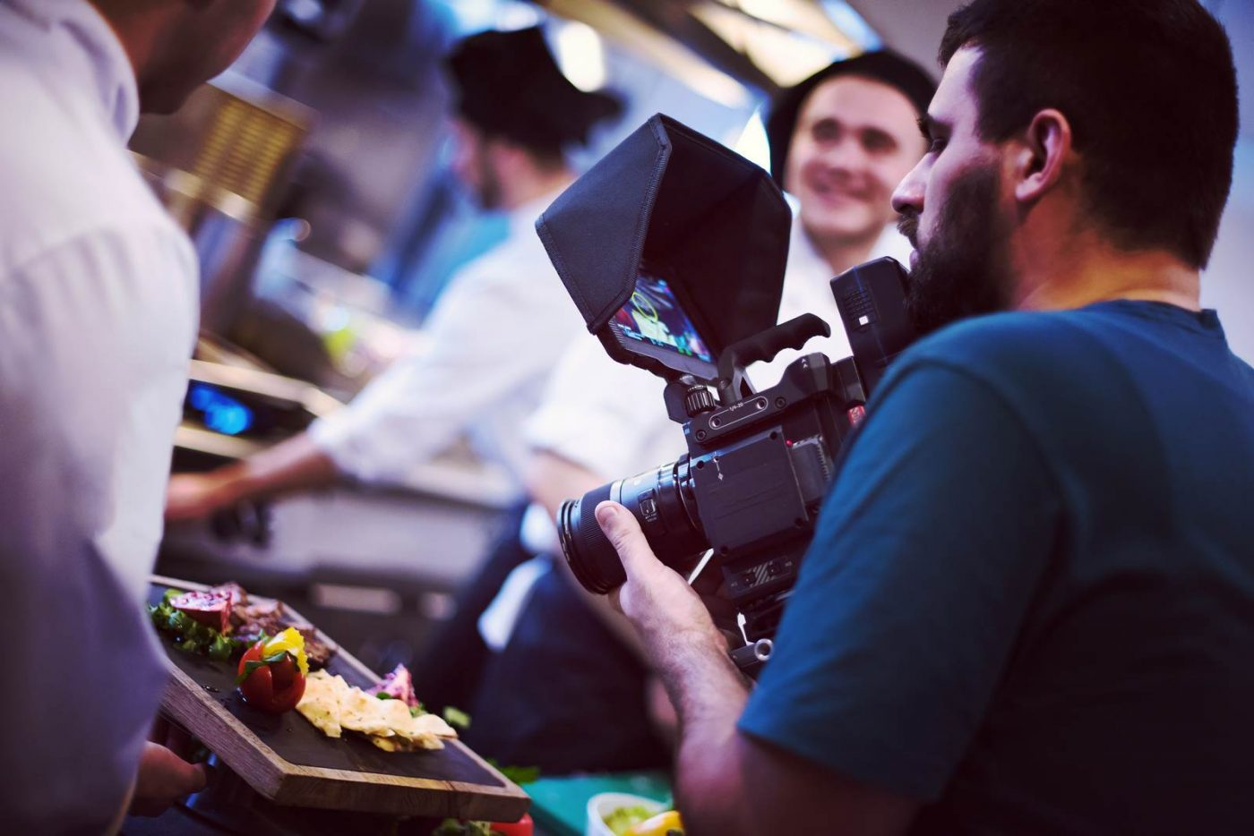 commercial videography team shoots video in Austin